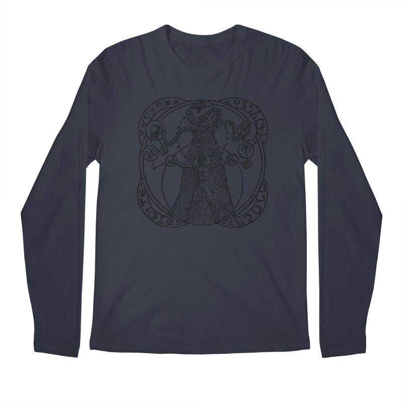 The Exchange (Black Ink) Men's Regular Longsleeve T-Shirt by The Corey Press
