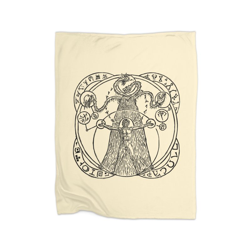 The Exchange (Black Ink) Home Blanket by The Corey Press