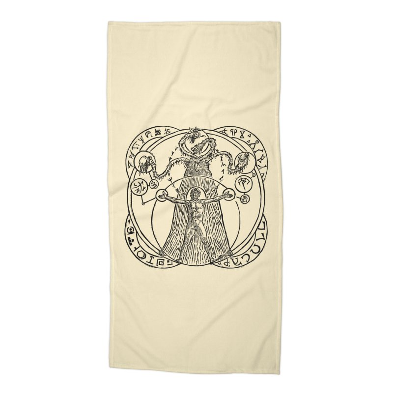 The Exchange (Black Ink) Accessories Beach Towel by The Corey Press