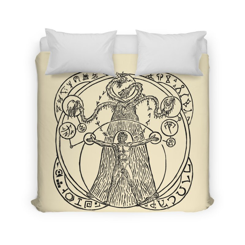 The Exchange (Black Ink) Home Duvet by The Corey Press