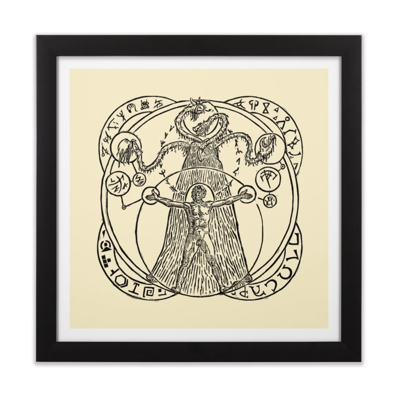 The Exchange (Black Ink) Home Framed Fine Art Print by The Corey Press