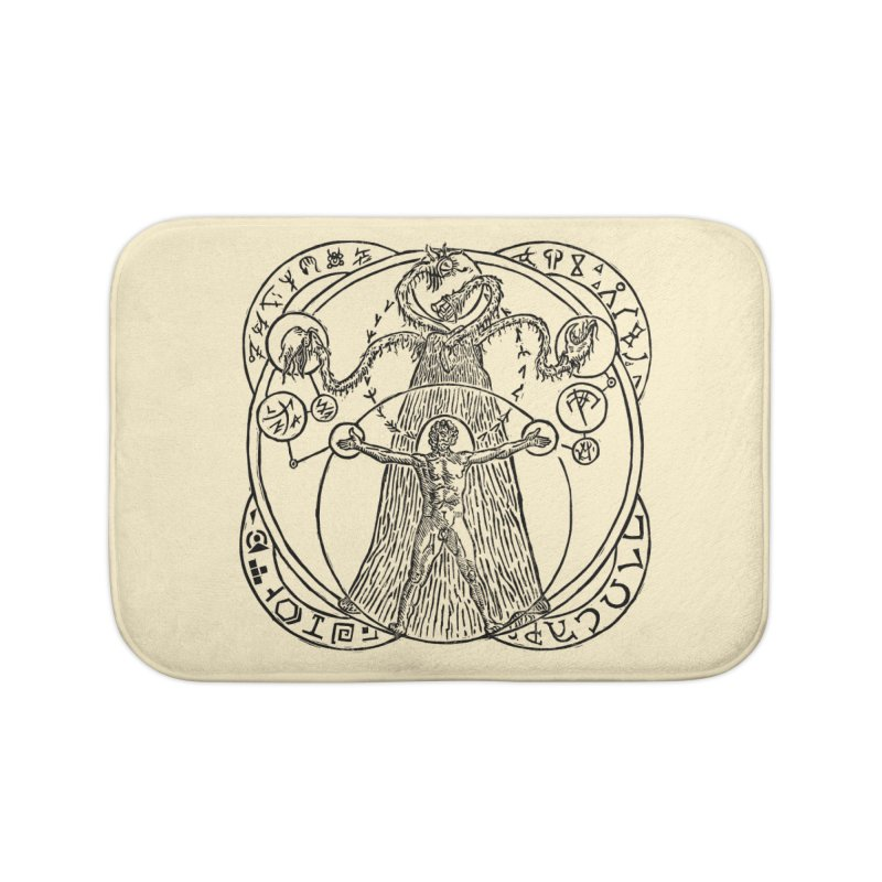 The Exchange (Black Ink) Home Bath Mat by The Corey Press