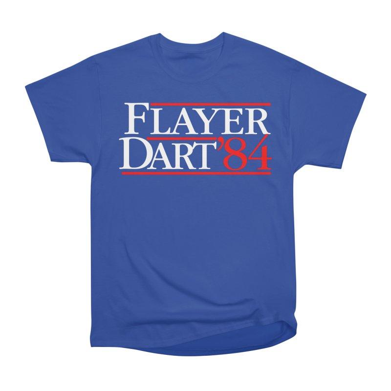 Flayer / Dart '84 Women's Heavyweight Unisex T-Shirt by The Corey Press