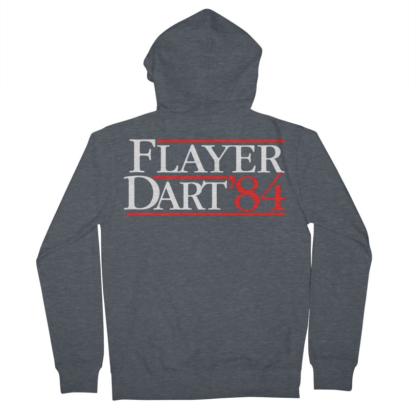 Flayer / Dart '84 Women's French Terry Zip-Up Hoody by The Corey Press