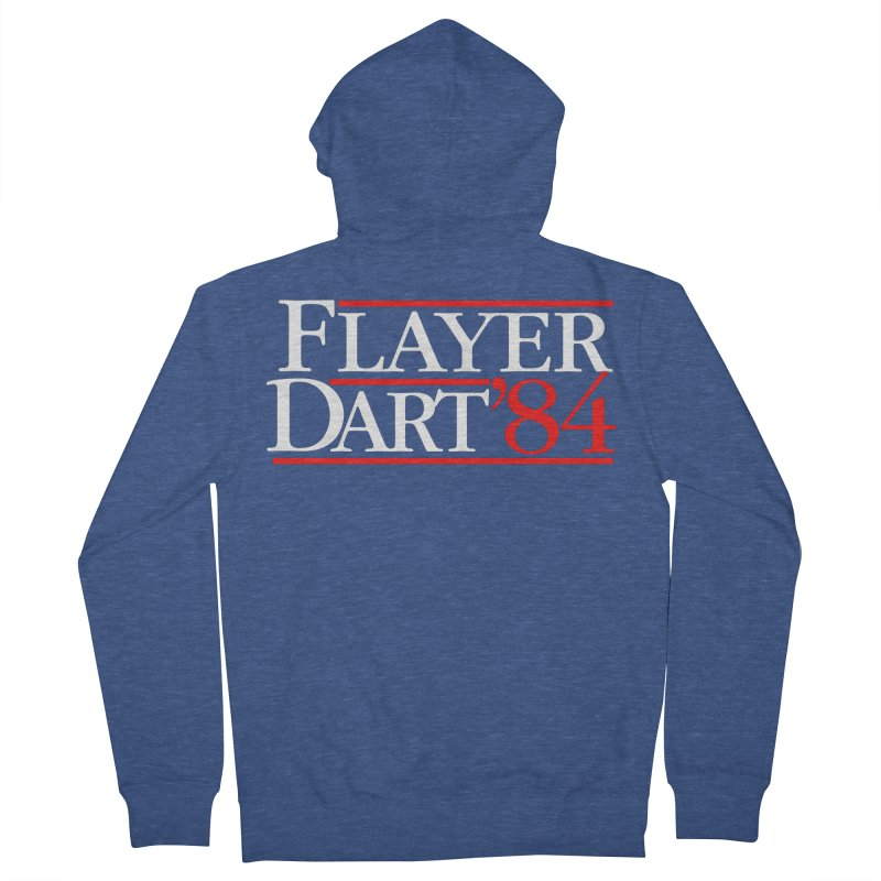 Flayer / Dart '84 Men's French Terry Zip-Up Hoody by The Corey Press