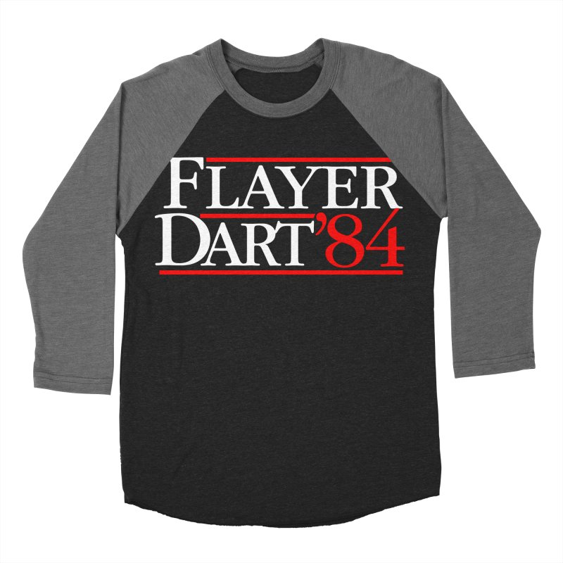 Flayer / Dart '84 Men's Baseball Triblend Longsleeve T-Shirt by The Corey Press