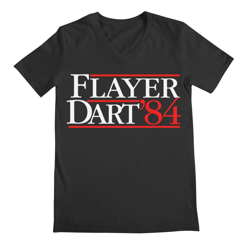 Flayer / Dart '84 Men's Regular V-Neck by The Corey Press