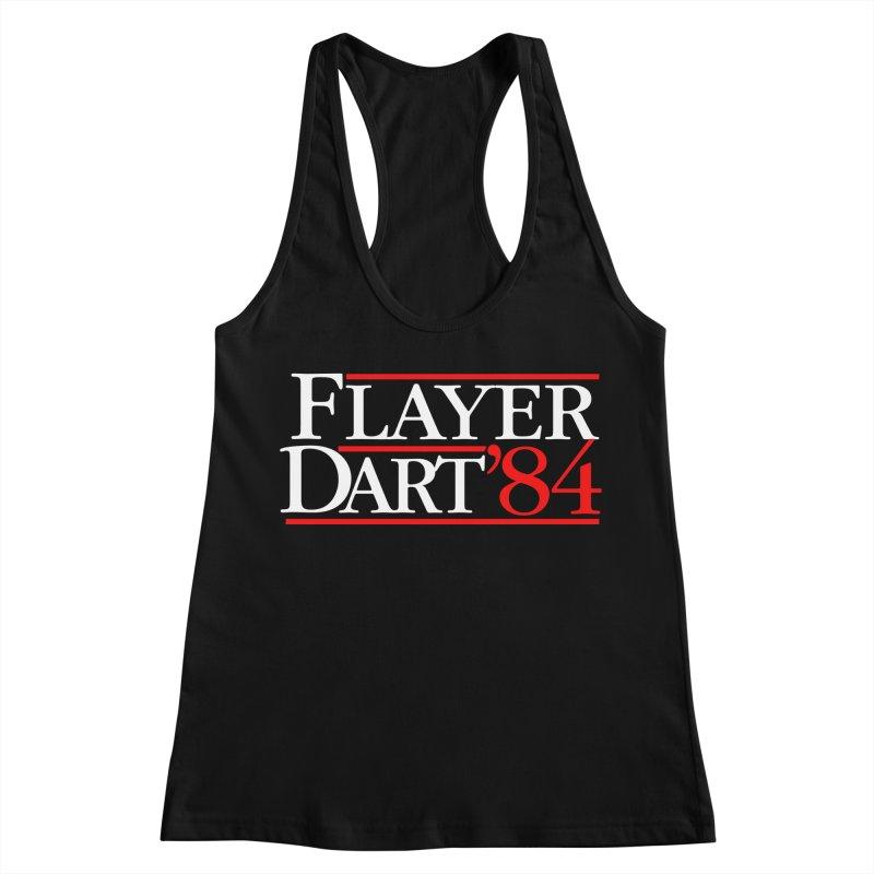 Flayer / Dart '84 Women's Racerback Tank by The Corey Press