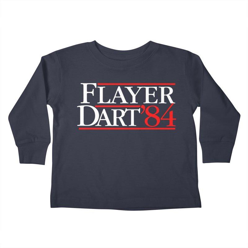 Flayer / Dart '84 Kids Toddler Longsleeve T-Shirt by The Corey Press