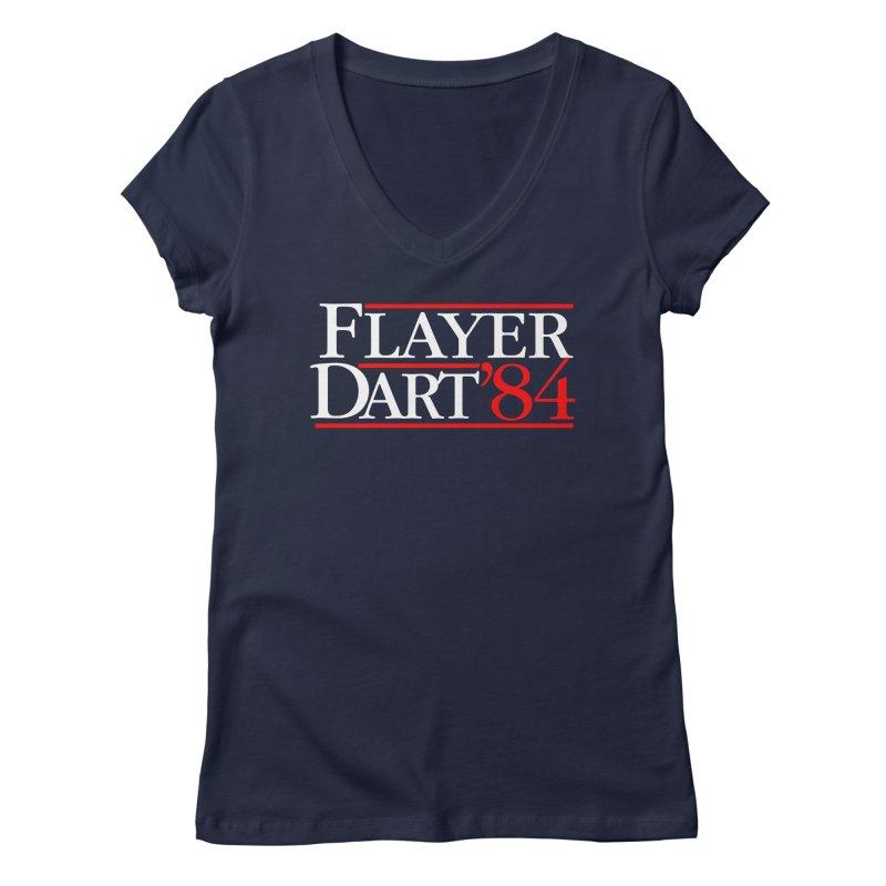 Flayer / Dart '84 Women's Regular V-Neck by The Corey Press