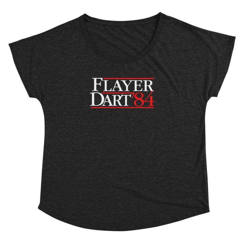Flayer / Dart '84 Women's Dolman Scoop Neck by The Corey Press
