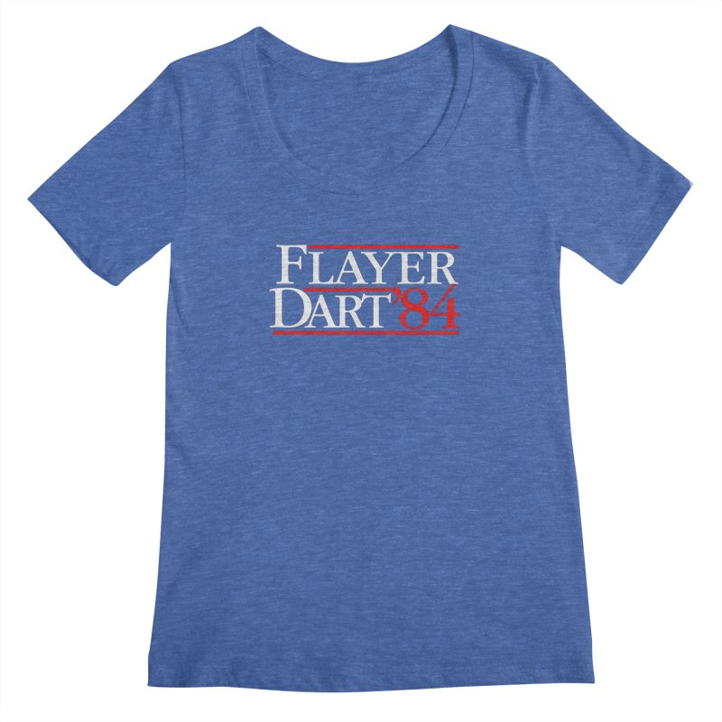 Flayer / Dart '84 Women's Regular Scoop Neck by The Corey Press