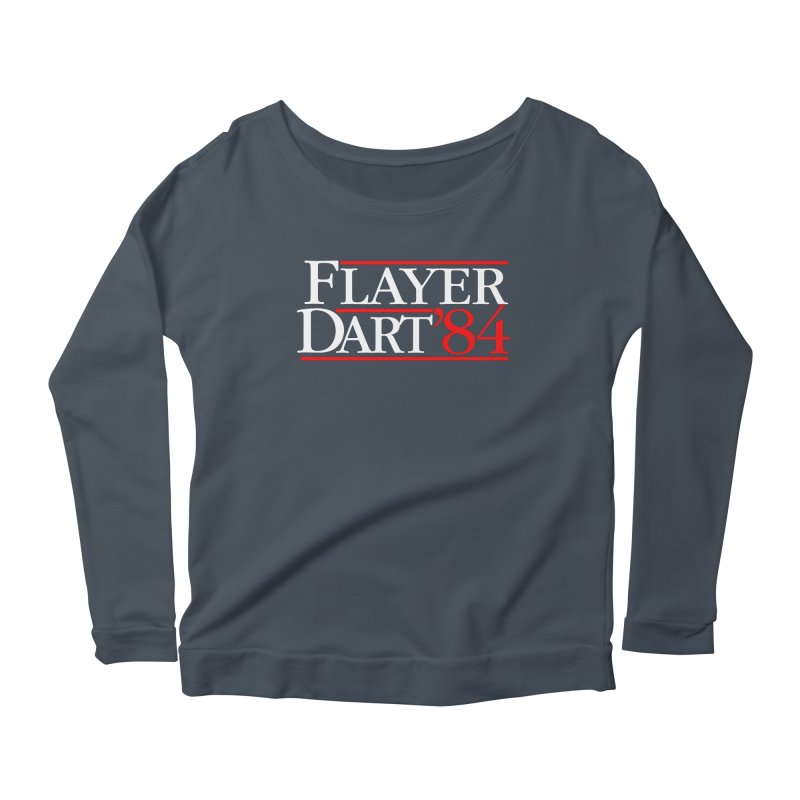 Flayer / Dart '84 Women's Scoop Neck Longsleeve T-Shirt by The Corey Press