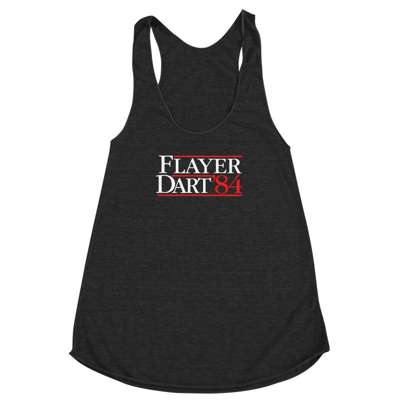 Flayer / Dart '84 Women's Racerback Triblend Tank by The Corey Press