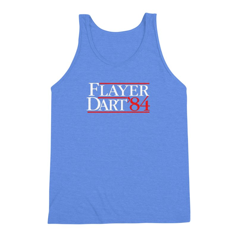 Flayer / Dart '84 Men's Triblend Tank by The Corey Press