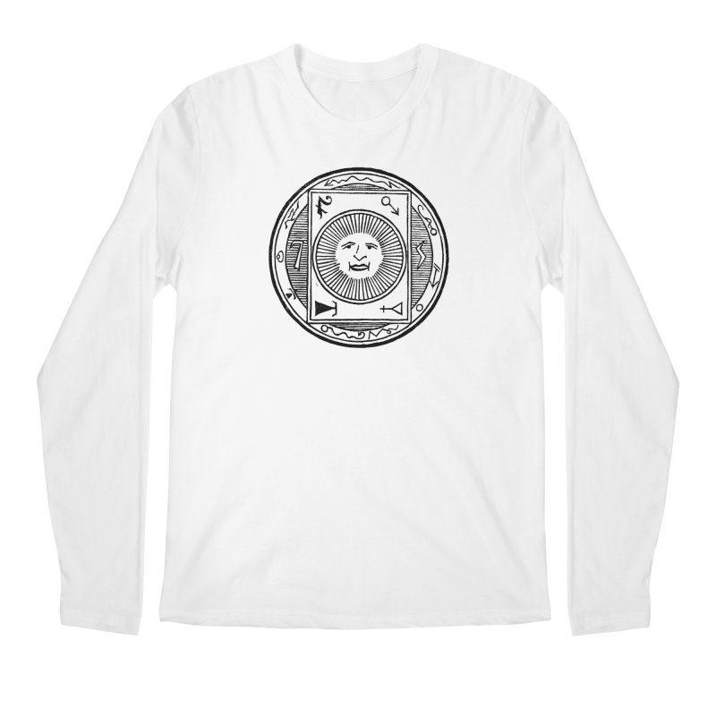 Figure 10 - Black Line Men's Regular Longsleeve T-Shirt by The Corey Press