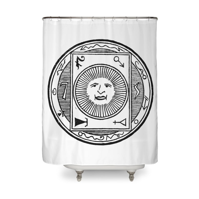 Figure 10 - Black Line Home Shower Curtain by The Corey Press