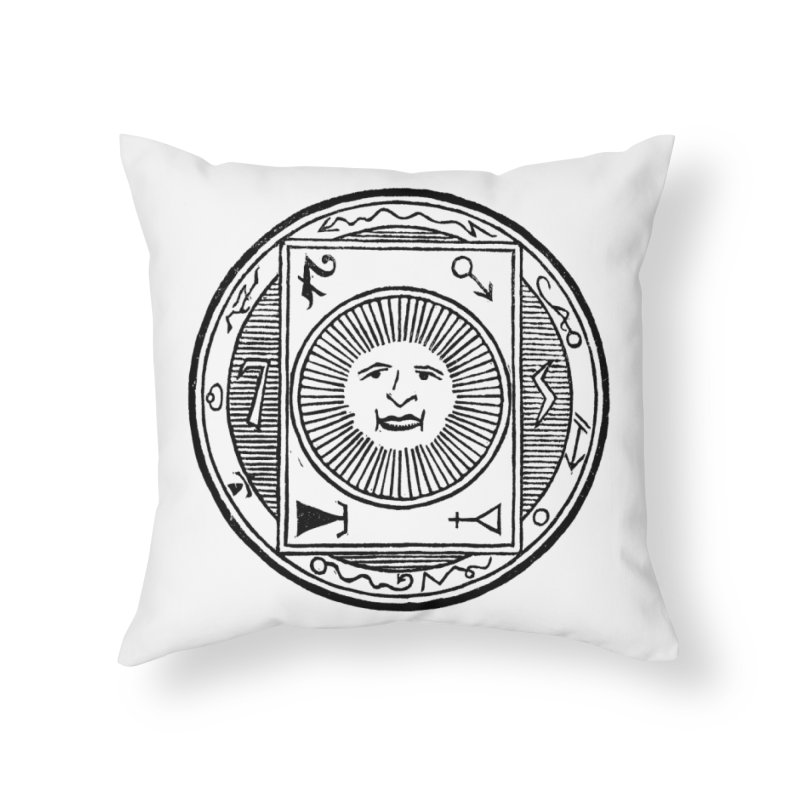 Figure 10 - Black Line Home Throw Pillow by The Corey Press