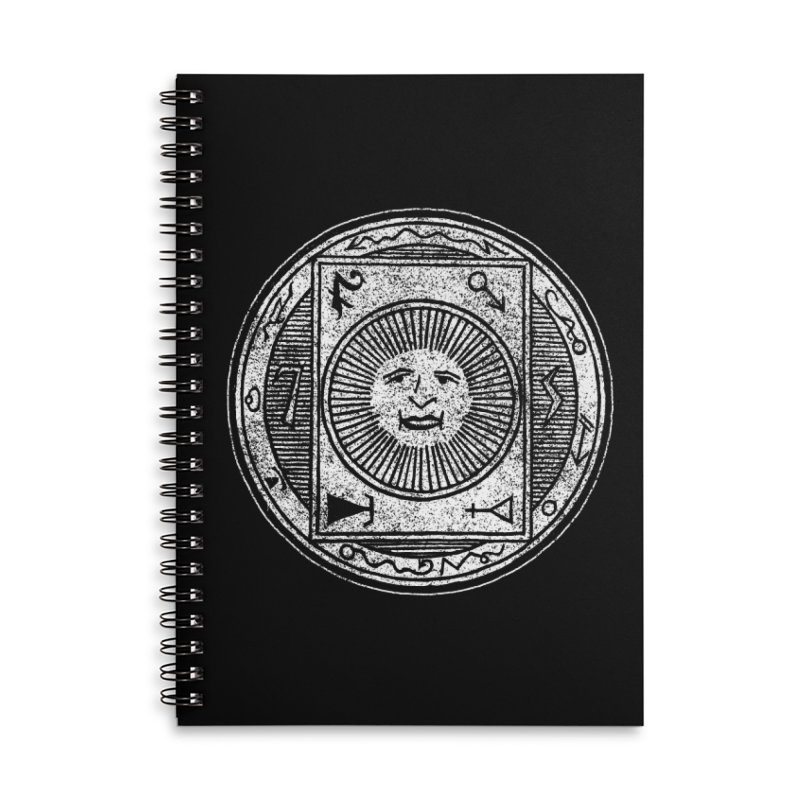 Figure 10 - White Base Accessories Lined Spiral Notebook by The Corey Press