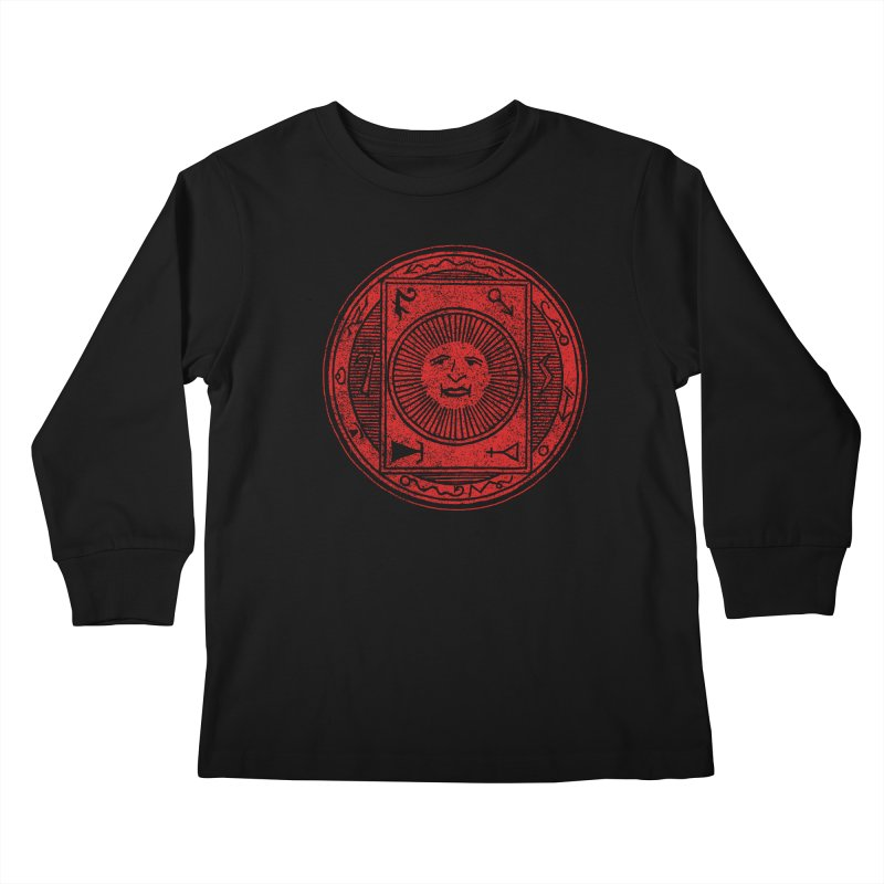 Figure 10 - Red Base Kids Longsleeve T-Shirt by The Corey Press