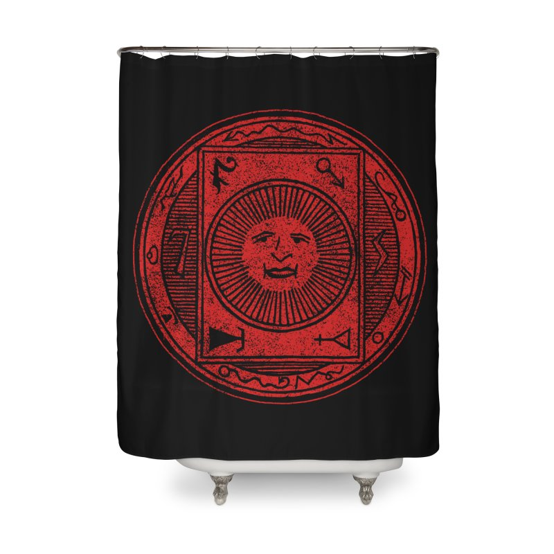 Figure 10 - Red Base Home Shower Curtain by The Corey Press