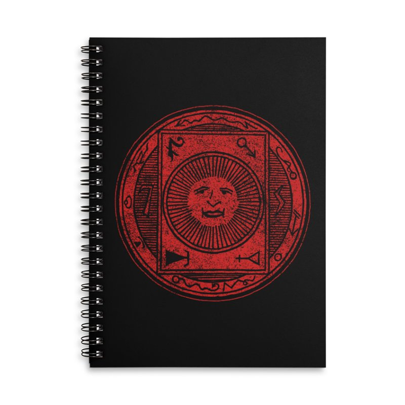 Figure 10 - Red Base Accessories Lined Spiral Notebook by The Corey Press