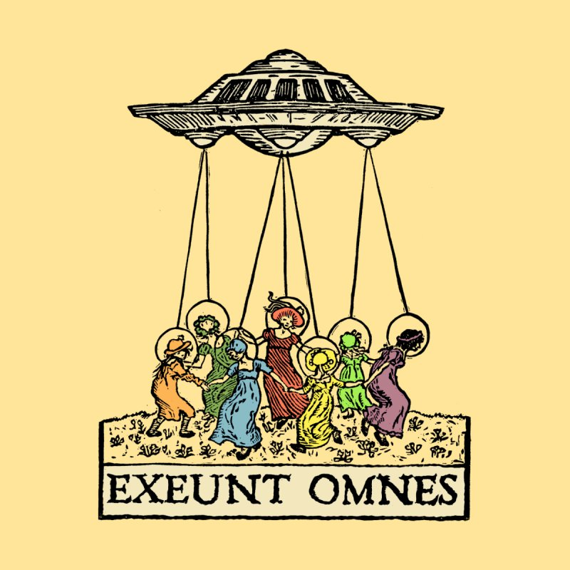 Exeunt Omnes Kids T-Shirt by The Corey Press