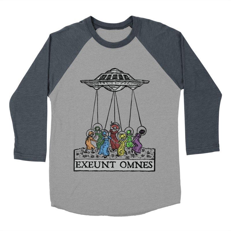 Exeunt Omnes Women's Baseball Triblend Longsleeve T-Shirt by The Corey Press