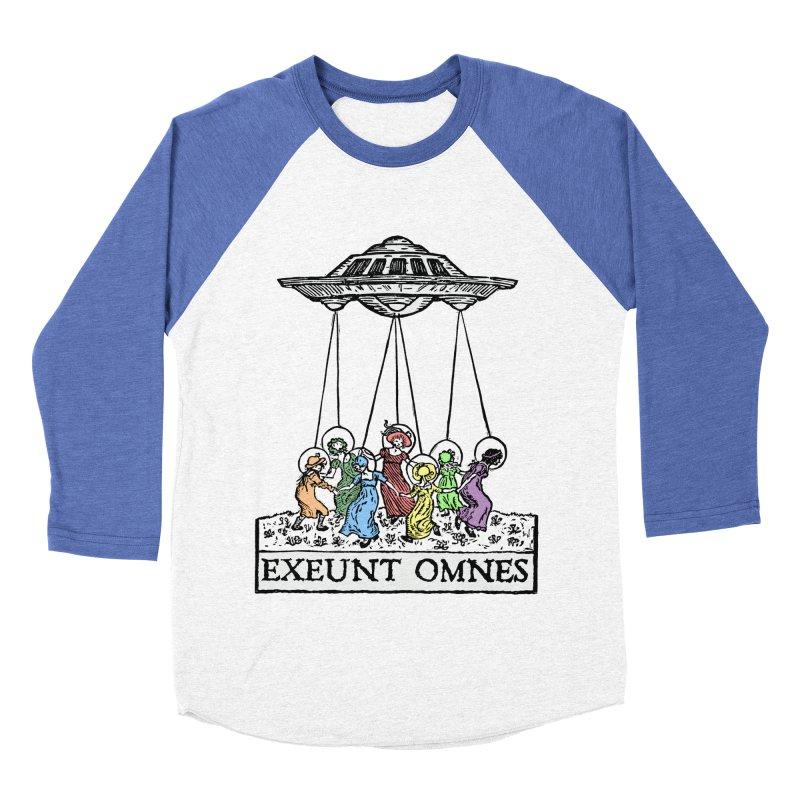 Exeunt Omnes Men's Baseball Triblend Longsleeve T-Shirt by The Corey Press