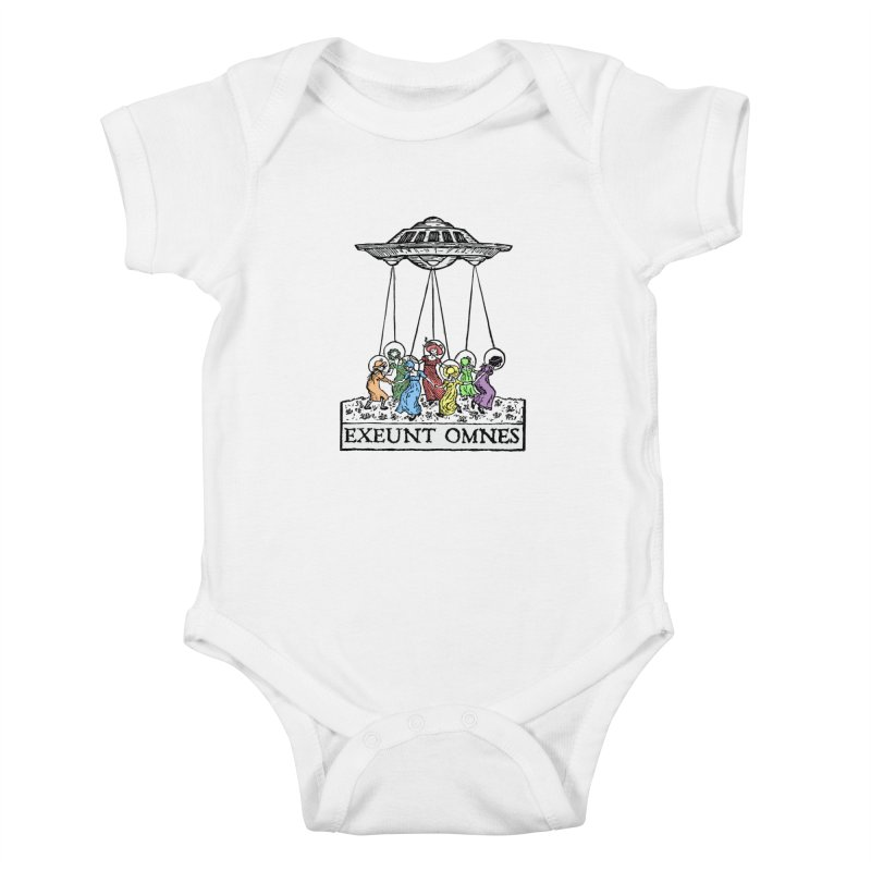 Exeunt Omnes Kids Baby Bodysuit by The Corey Press