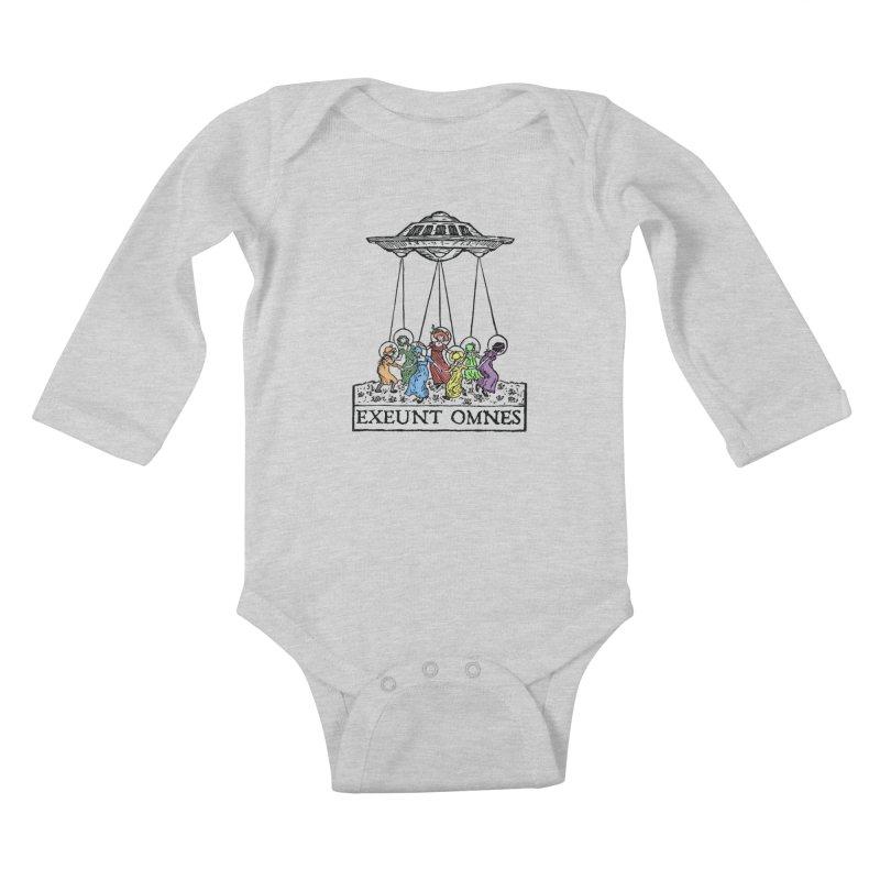 Exeunt Omnes Kids Baby Longsleeve Bodysuit by The Corey Press
