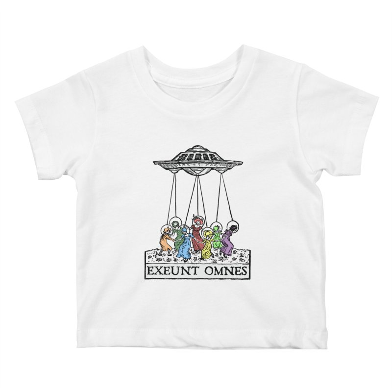 Exeunt Omnes Kids Baby T-Shirt by The Corey Press