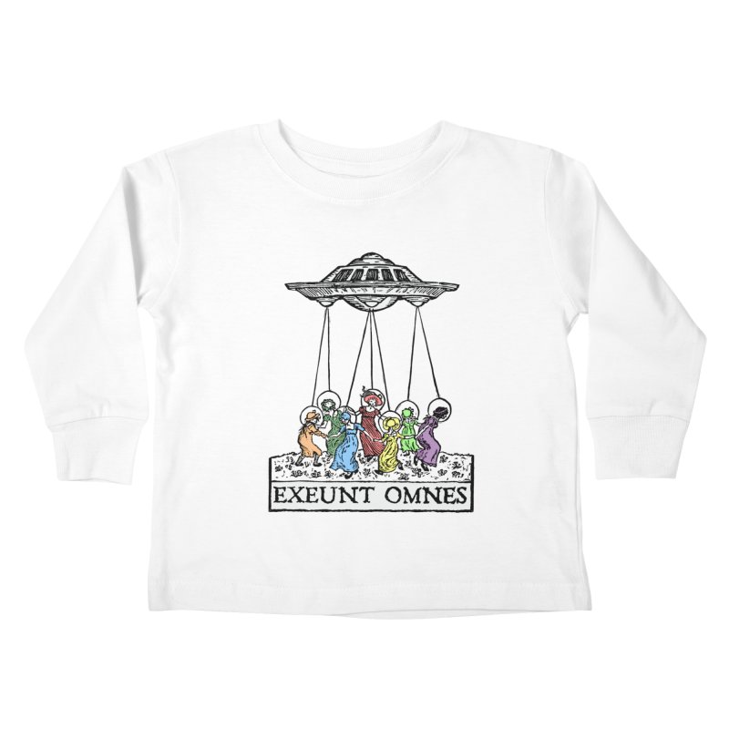 Exeunt Omnes Kids Toddler Longsleeve T-Shirt by The Corey Press