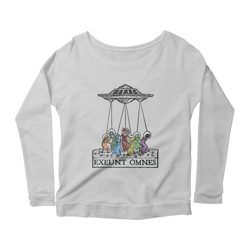 Exeunt Omnes Women's Scoop Neck Longsleeve T-Shirt by The Corey Press