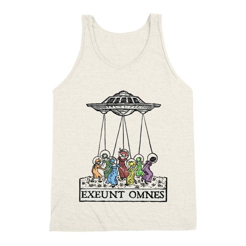 Exeunt Omnes Men's Triblend Tank by The Corey Press