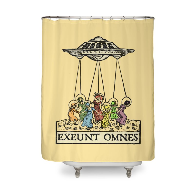 Exeunt Omnes Home Shower Curtain by The Corey Press