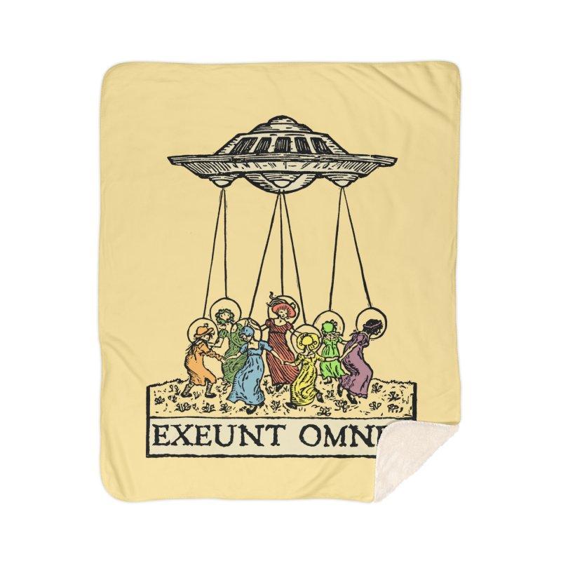 Exeunt Omnes Home Sherpa Blanket Blanket by The Corey Press
