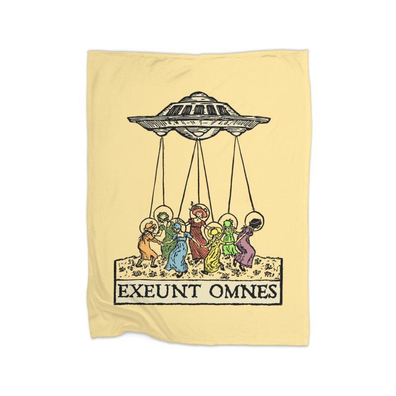 Exeunt Omnes Home Fleece Blanket Blanket by The Corey Press