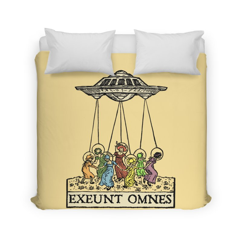 Exeunt Omnes Home Duvet by The Corey Press