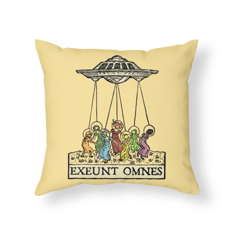 Exeunt Omnes Home Throw Pillow by The Corey Press