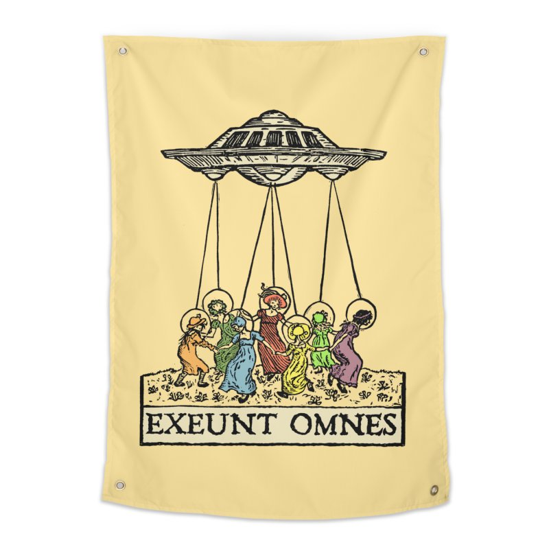 Exeunt Omnes Home Tapestry by The Corey Press