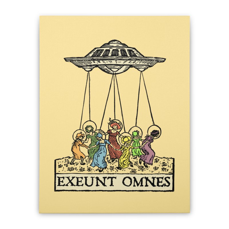 Exeunt Omnes Home Stretched Canvas by The Corey Press