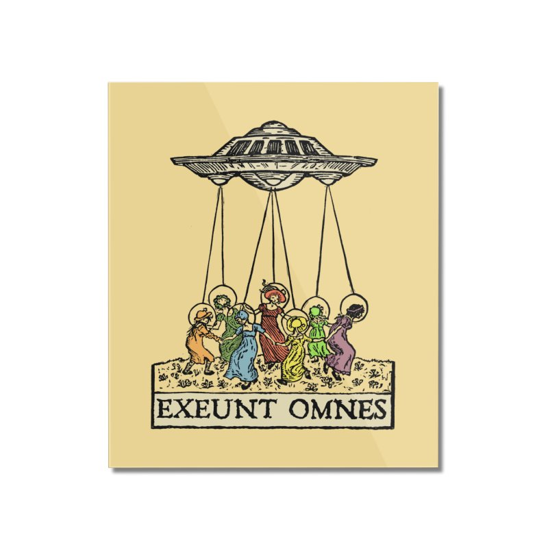 Exeunt Omnes Home Mounted Acrylic Print by The Corey Press