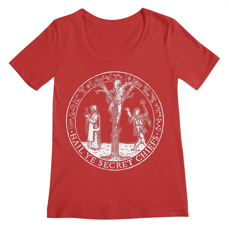 The Oracle Tree Women's Scoop Neck by The Corey Press