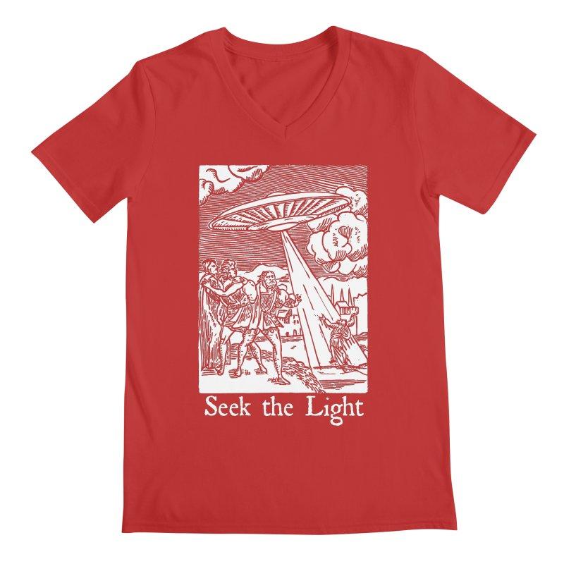 Seek the Light Men's V-Neck by The Corey Press
