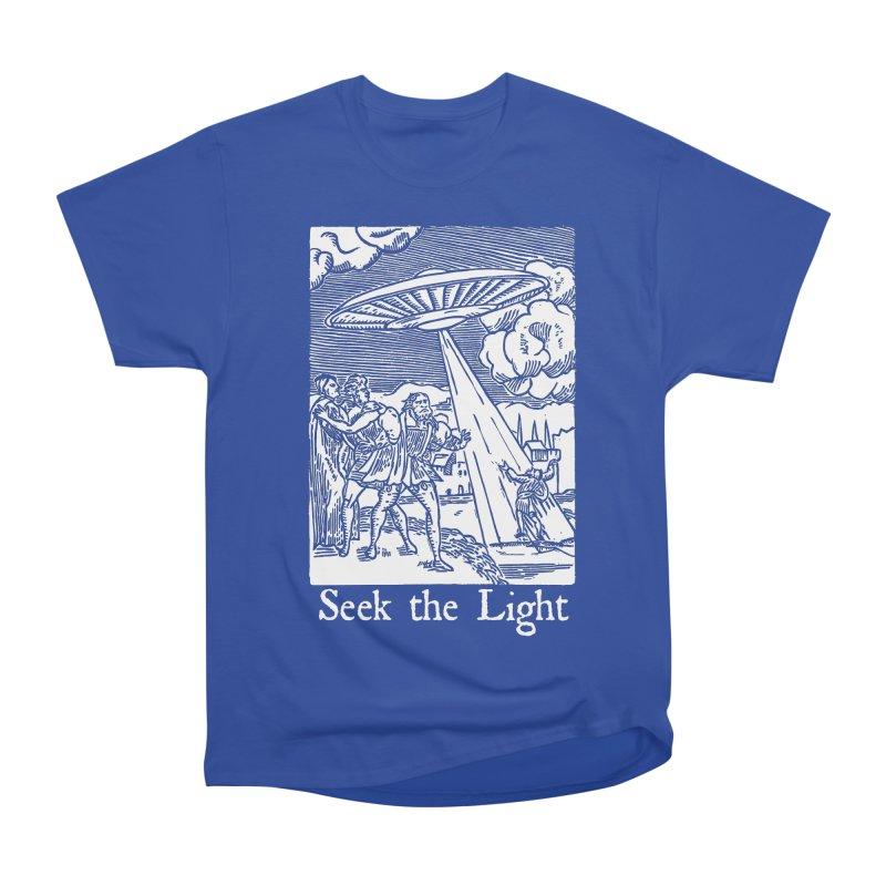 Seek the Light Women's Heavyweight Unisex T-Shirt by The Corey Press