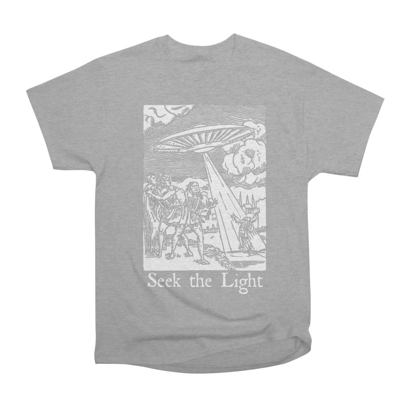 Seek the Light Men's Heavyweight T-Shirt by The Corey Press