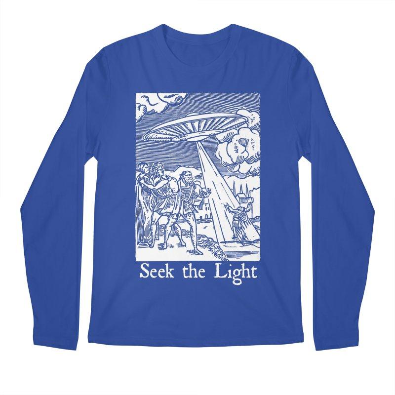 Seek the Light Men's Regular Longsleeve T-Shirt by The Corey Press