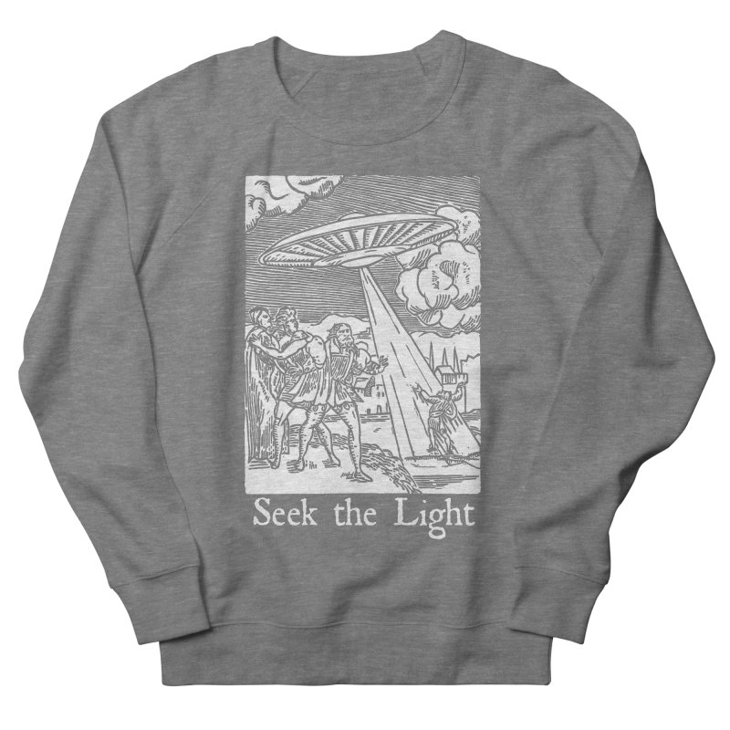 Seek the Light Men's French Terry Sweatshirt by The Corey Press