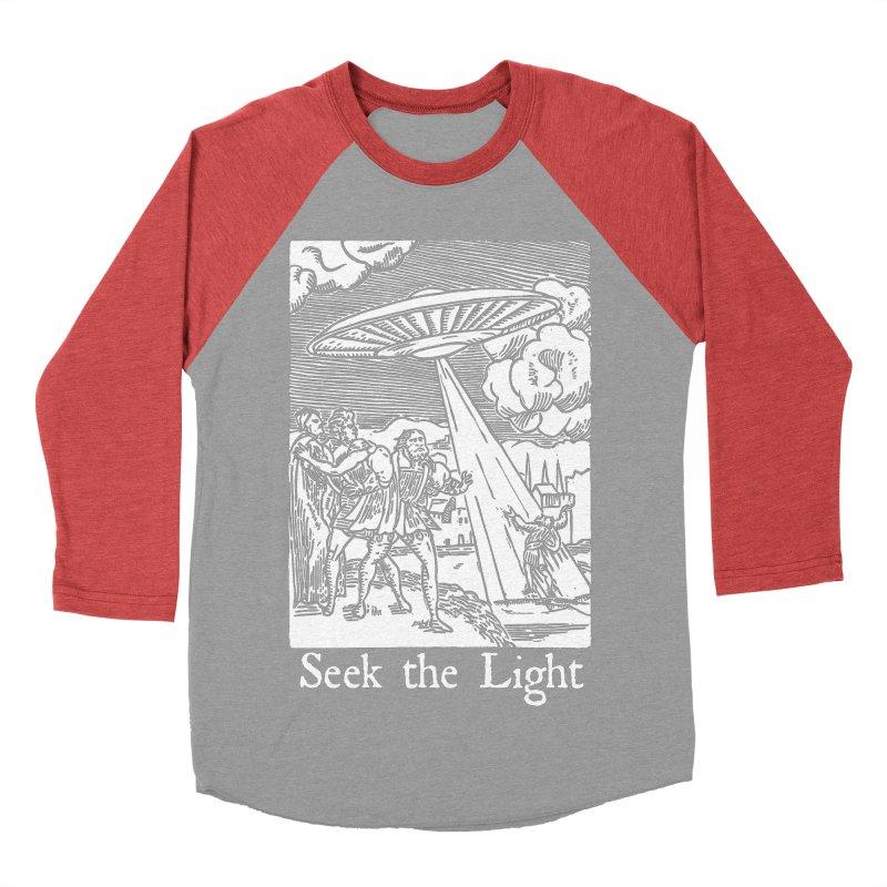 Seek the Light Men's Baseball Triblend Longsleeve T-Shirt by The Corey Press
